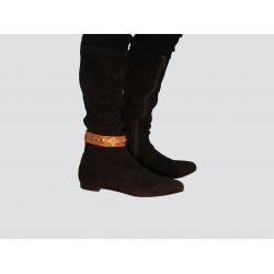 Cinturón de bota marrón